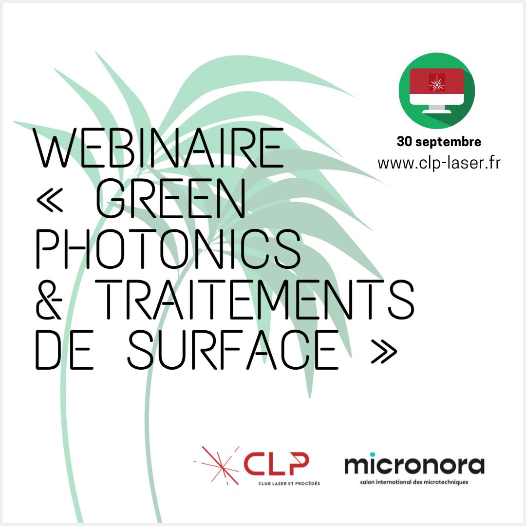 Webinaire Green Photonics